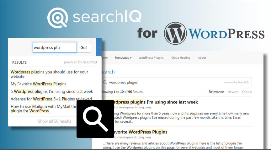 wordpress searchiq plugin