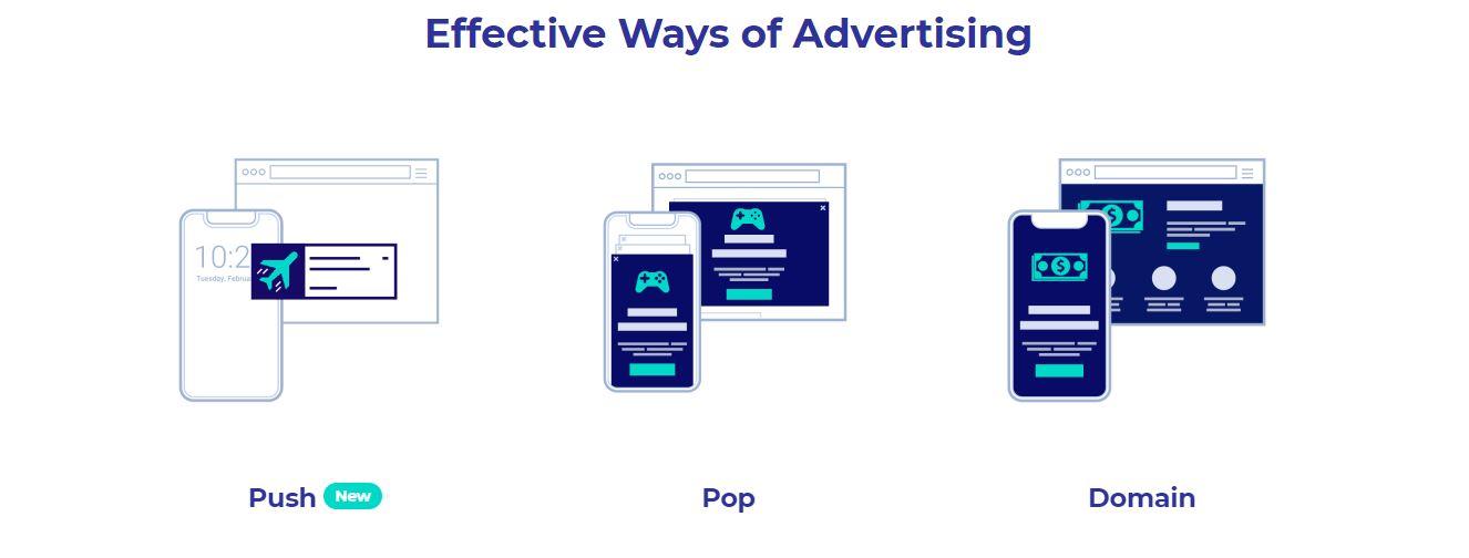 Zeropark push ad