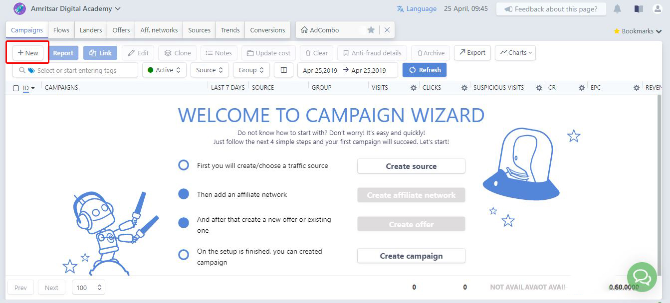 create affiliate campaign