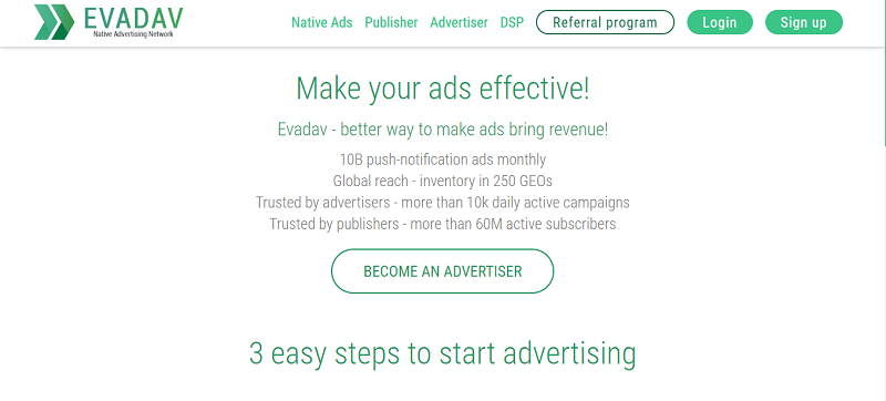 EvaDav for Advertisers