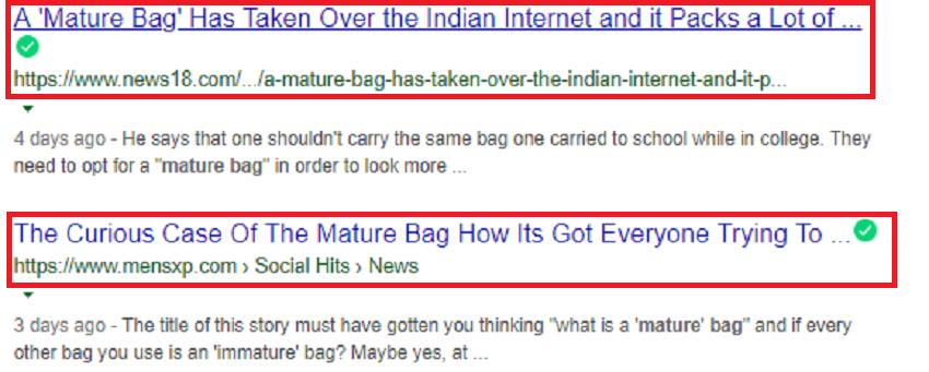 Mature Bag