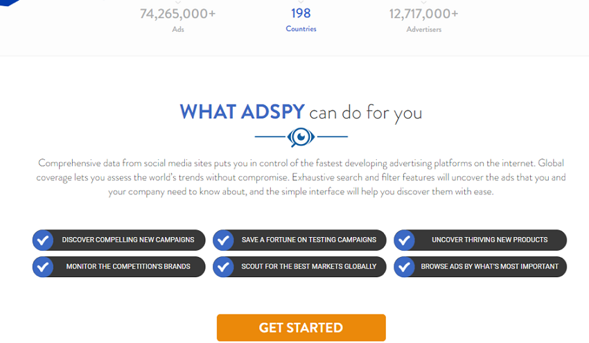 features of adspy